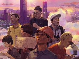 纪录片《奇迹》插画海报