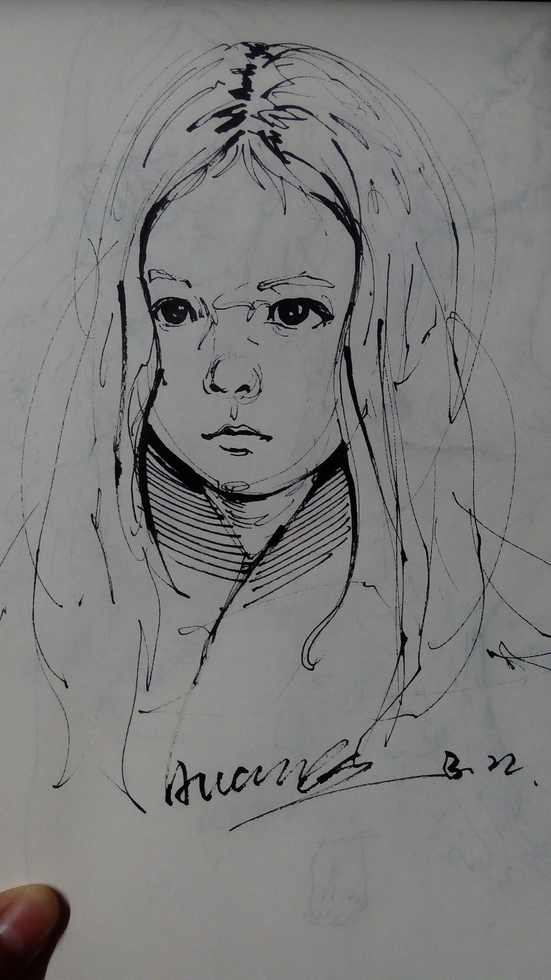 西安鼓楼钢笔手绘