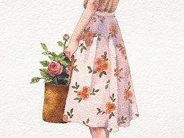 花与少女系列:③