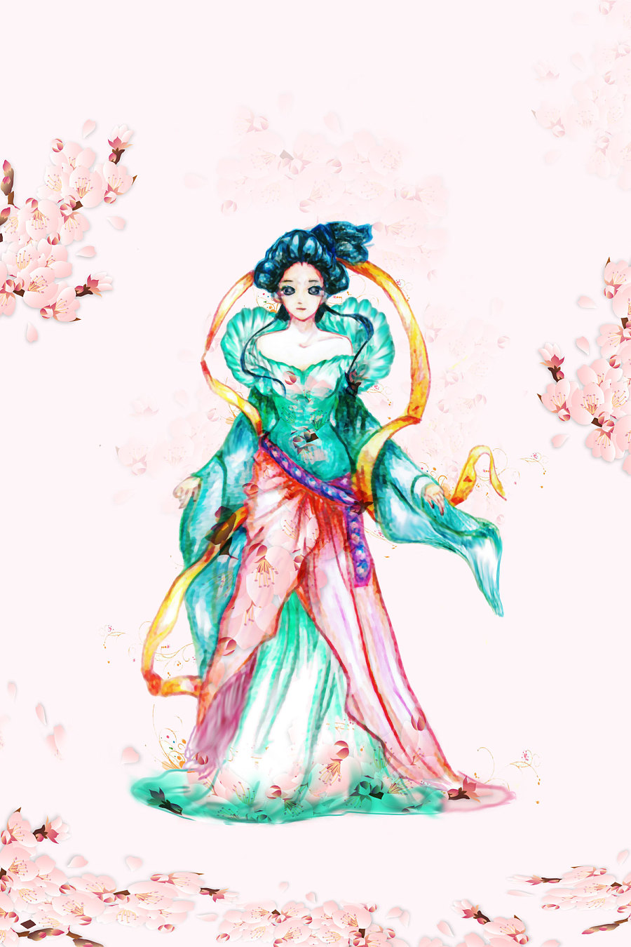 古代美女手绘 (ps修饰)|单幅漫画|动漫|alicedemon