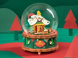 """""""圣诞快乐!""""若来圣诞新品八音盒对你说"""