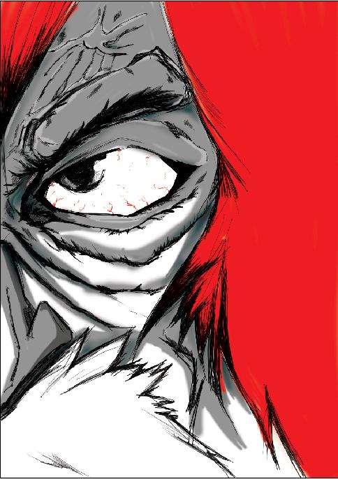 半脸人物手绘练习|绘本|动漫|林蹦哒 - 原创设计作品