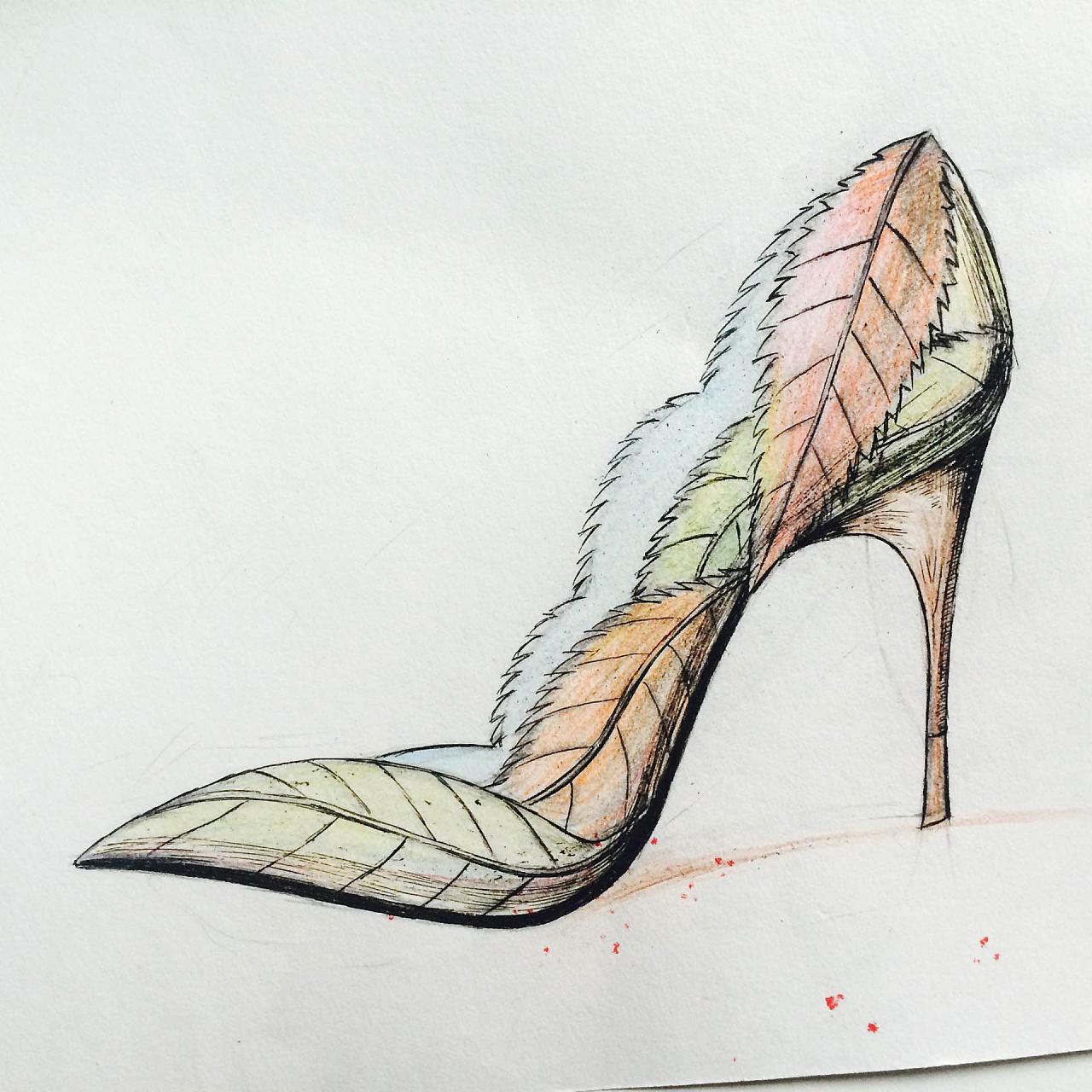 鞋类设计手稿图片