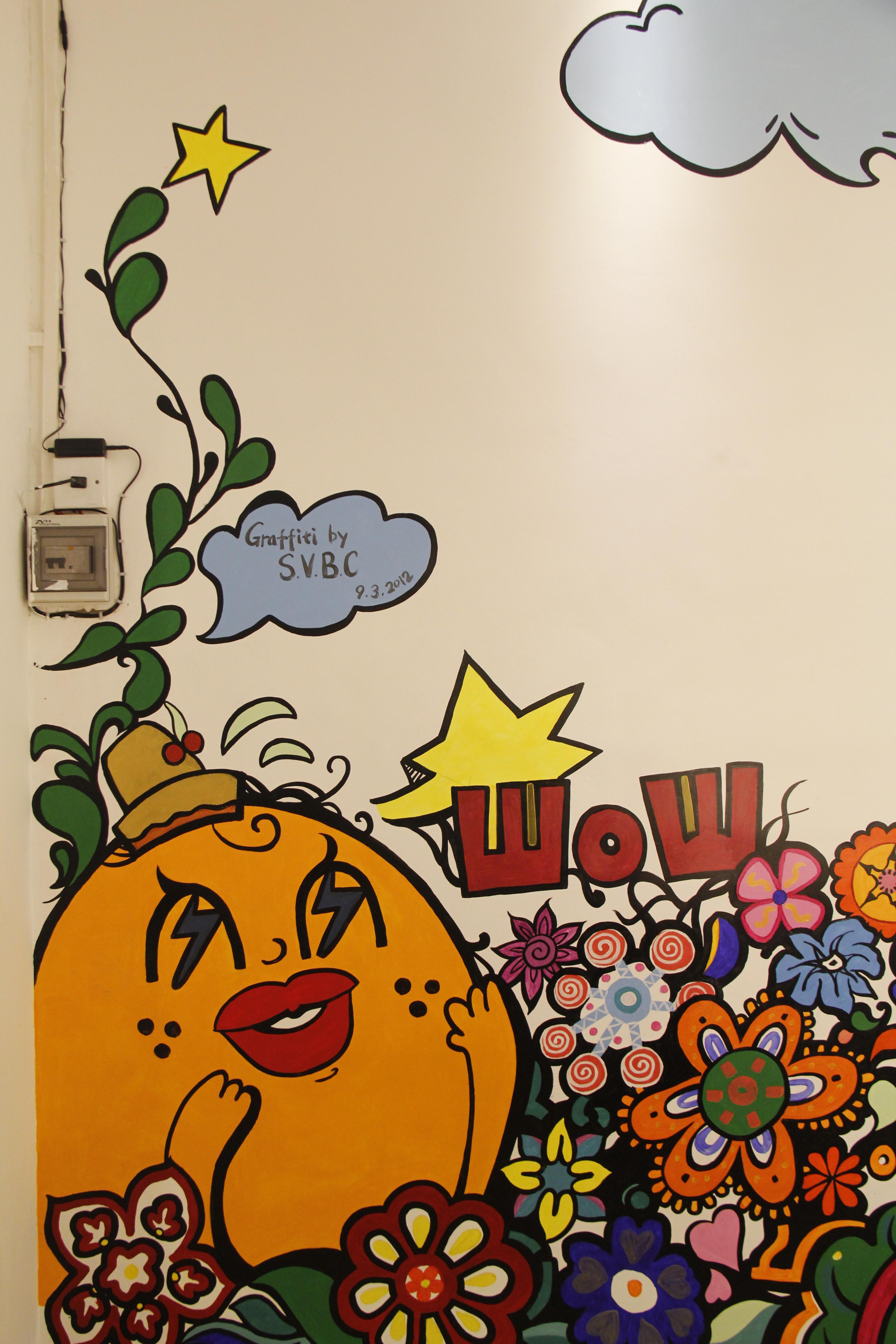 商业店铺涂鸦墙绘