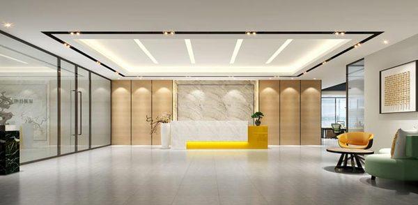 办公室前台装修设计案例效果图|室内设计|空间设计聚合v前台图片