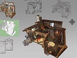 洛克猴游戏室内剖面解析图——《铁匠铺》