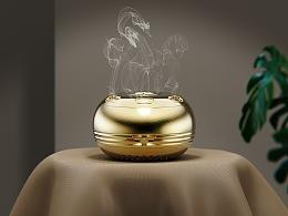 黄铜艾灸盒