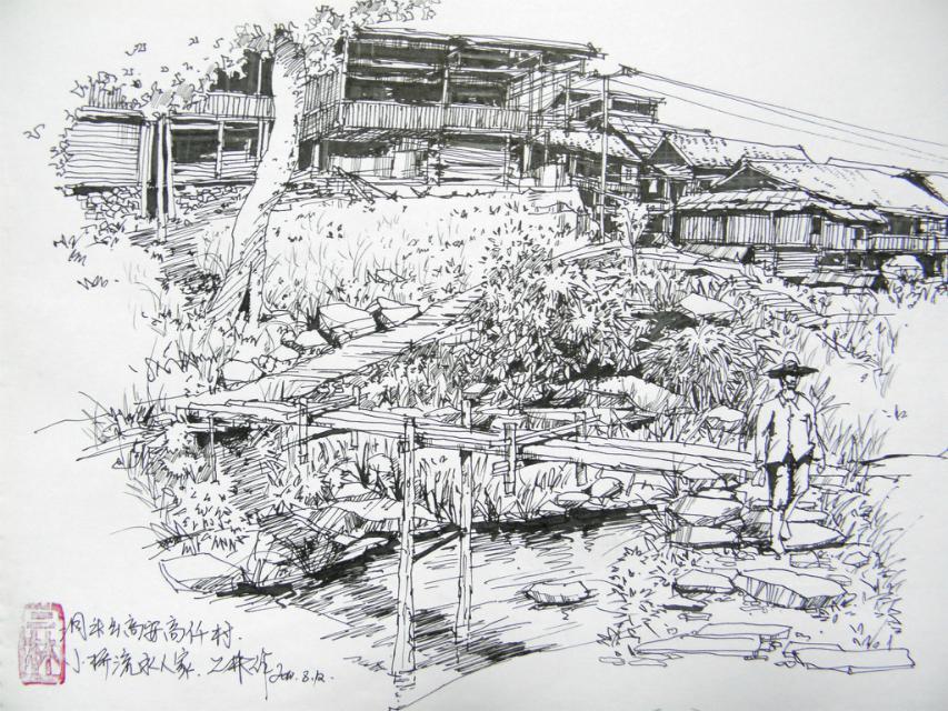 手绘家乡洞头|空间|景观设计|小二双木 - 原创作品
