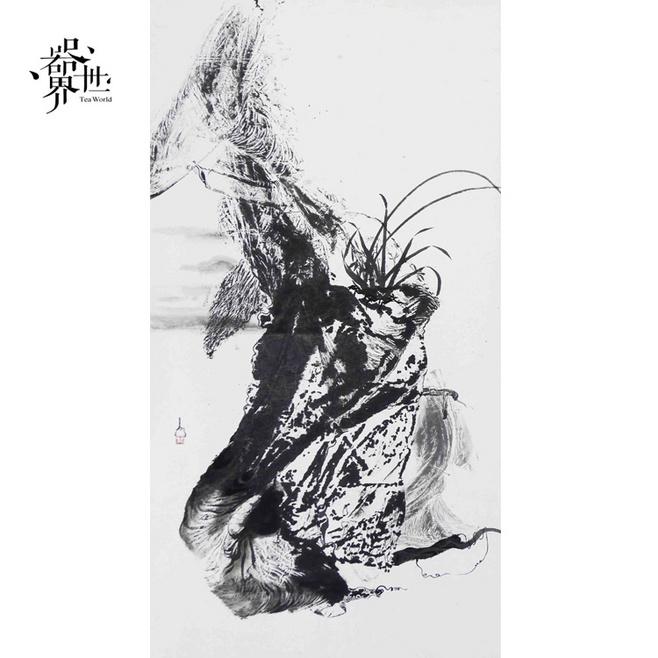 【器世界】名家字画 书画 #国画禅意山水画 孙进手绘原稿 幽兰#收藏品