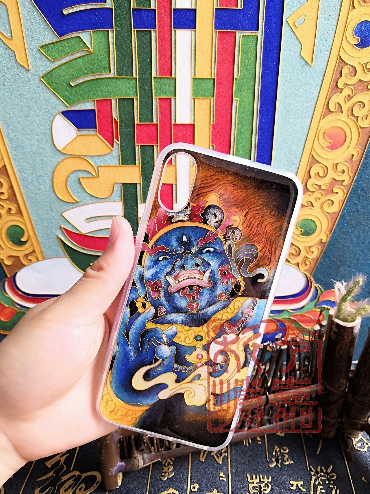 景泰蓝手工艺画_景泰蓝金丝沙画画手机壳,把艺术随时携带|手工艺|其他手工|亨 ...