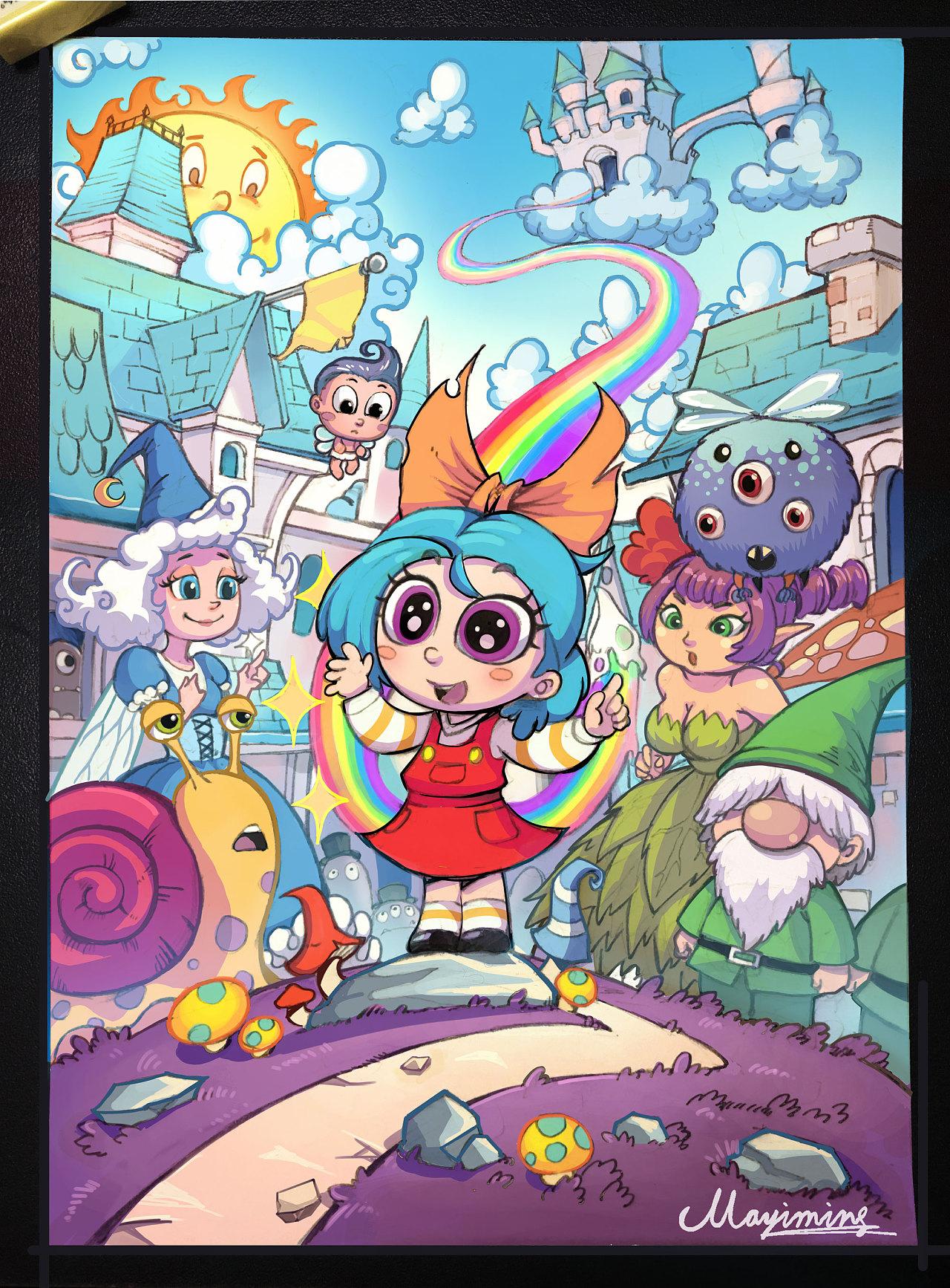 一炷香的时间_Q版插画一张 插画 儿童插画 少侠一炷香ol - 原创作品 - 站酷 (ZCOOL)