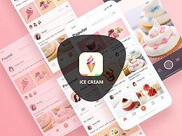 ICE CREAM app UI