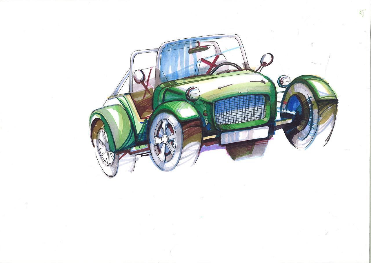 汽车马克笔手绘作品