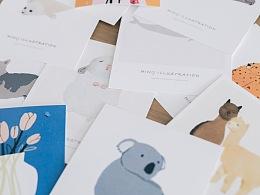 插画 心中的动物系列 原创动物泥塑