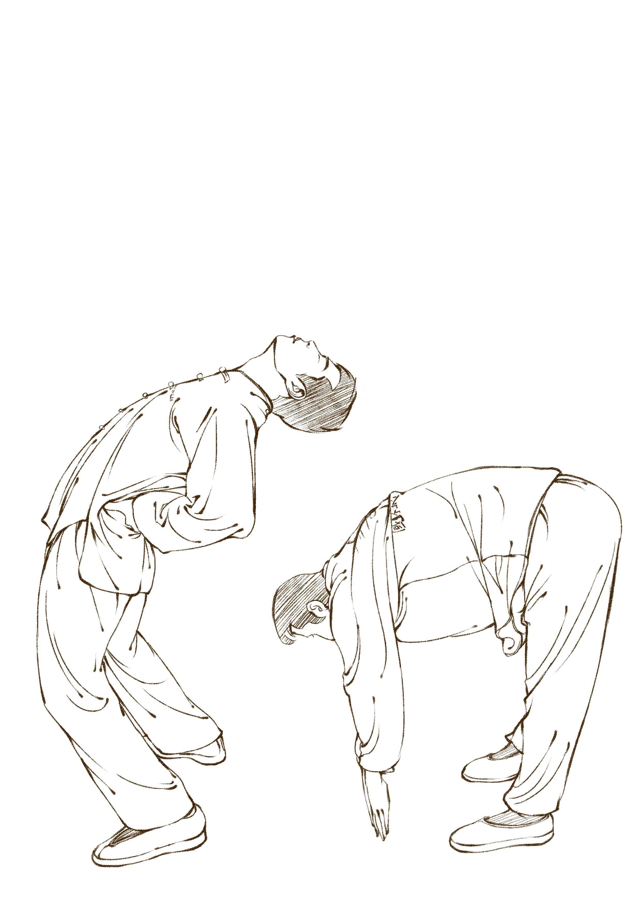 人物动作手绘线描