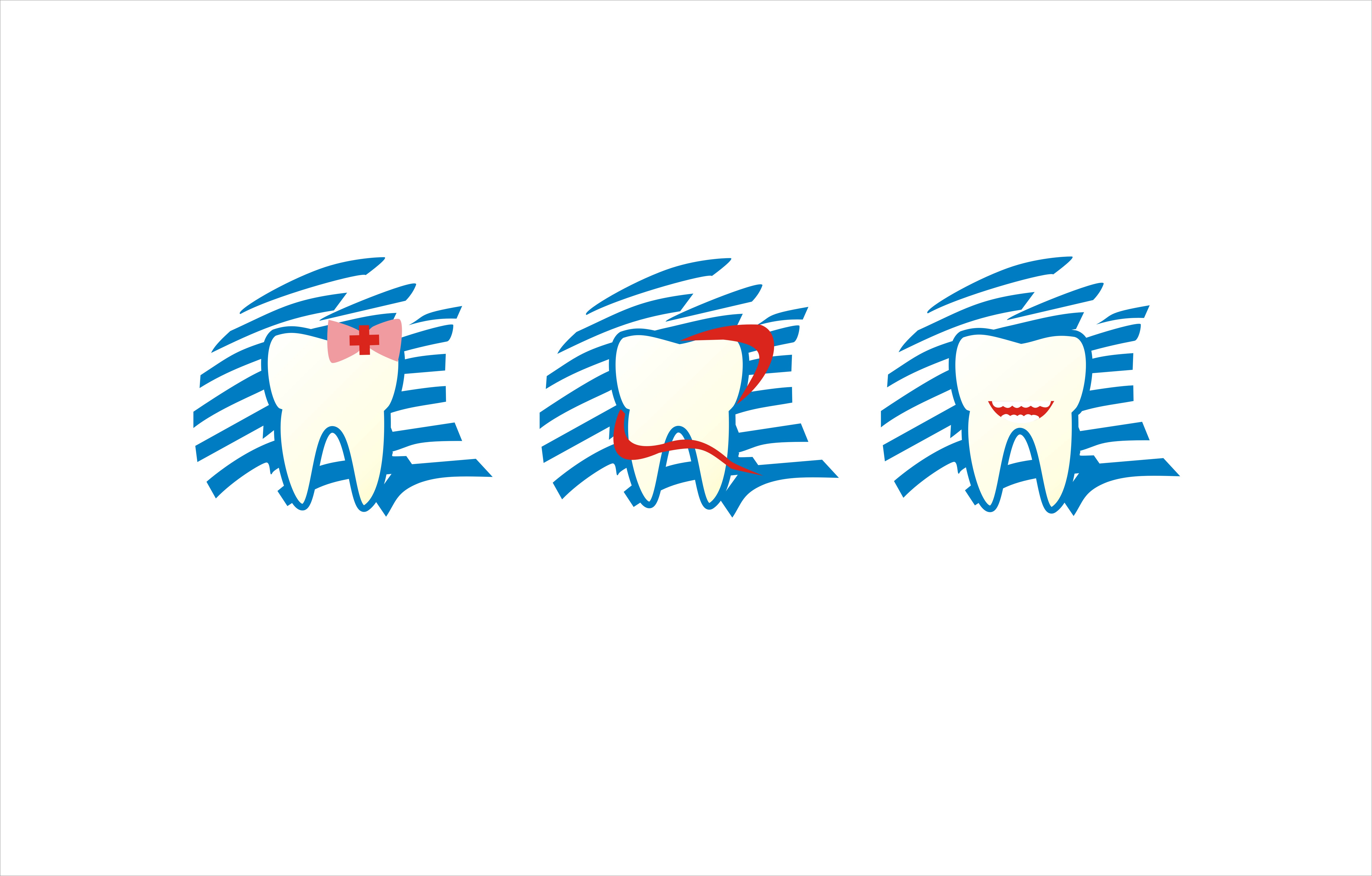 牙科logo-害羞的笑 标志