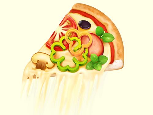 披萨粘土作品教程图解