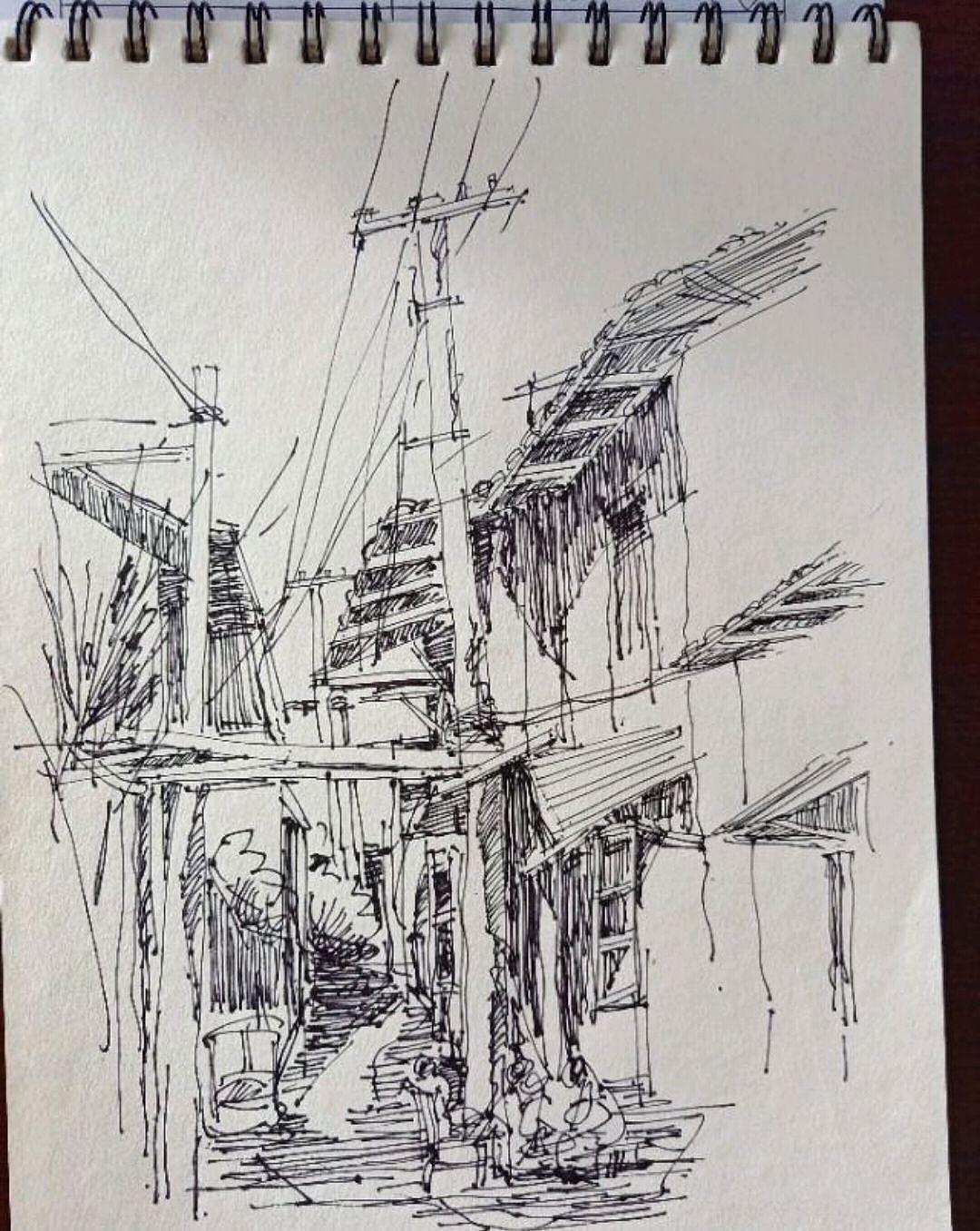 范炯钢笔画手绘表现