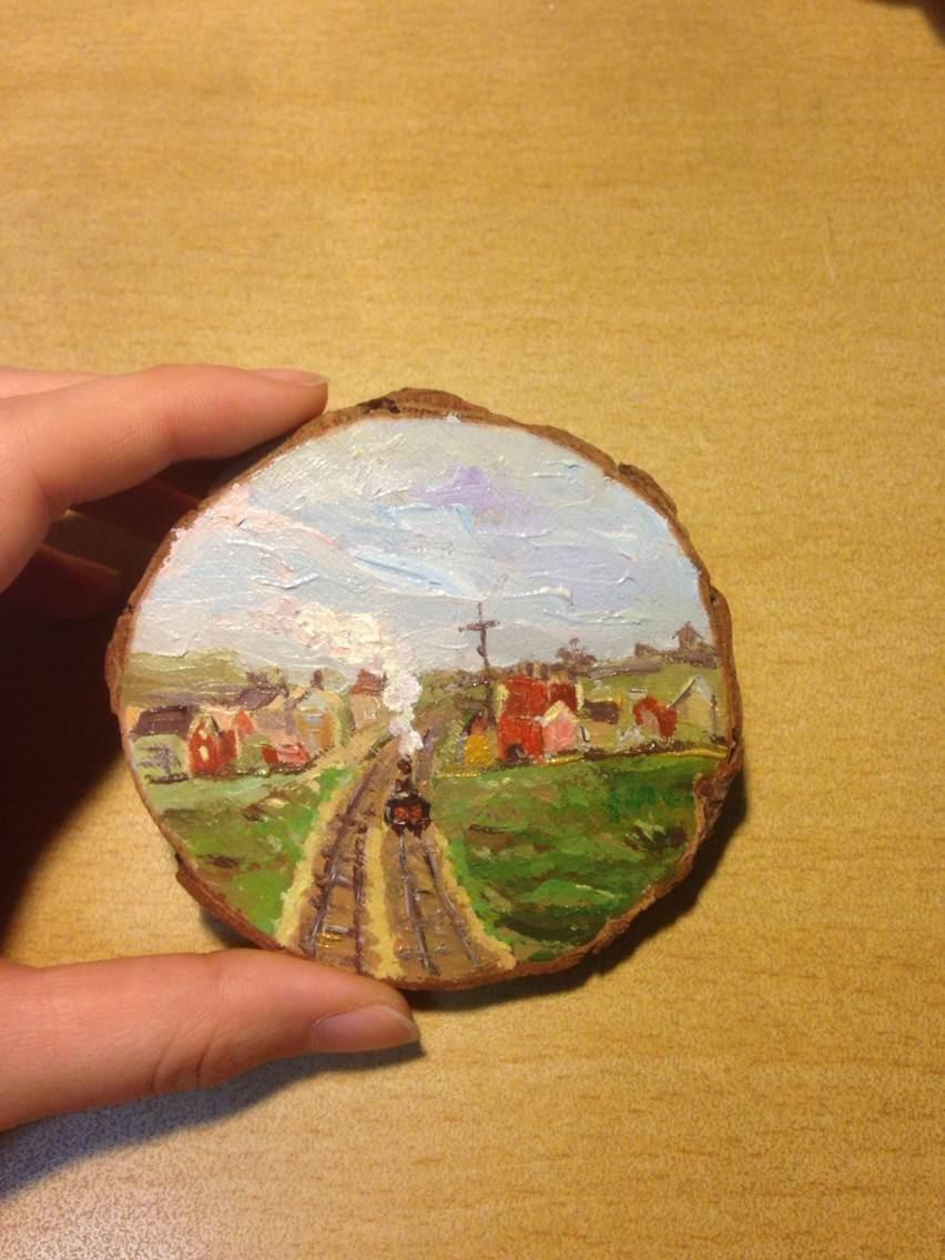 我的一些木片画图片