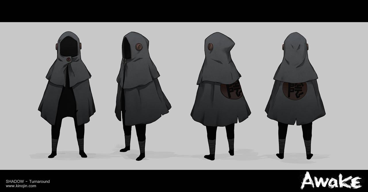 awake二维动画角色设定与海报设计