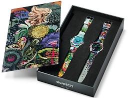 瑞士著名手表品牌SWATCH邀请艺术家Olaf Hajek手表设计