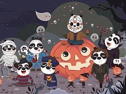熊猫版恐怖人物