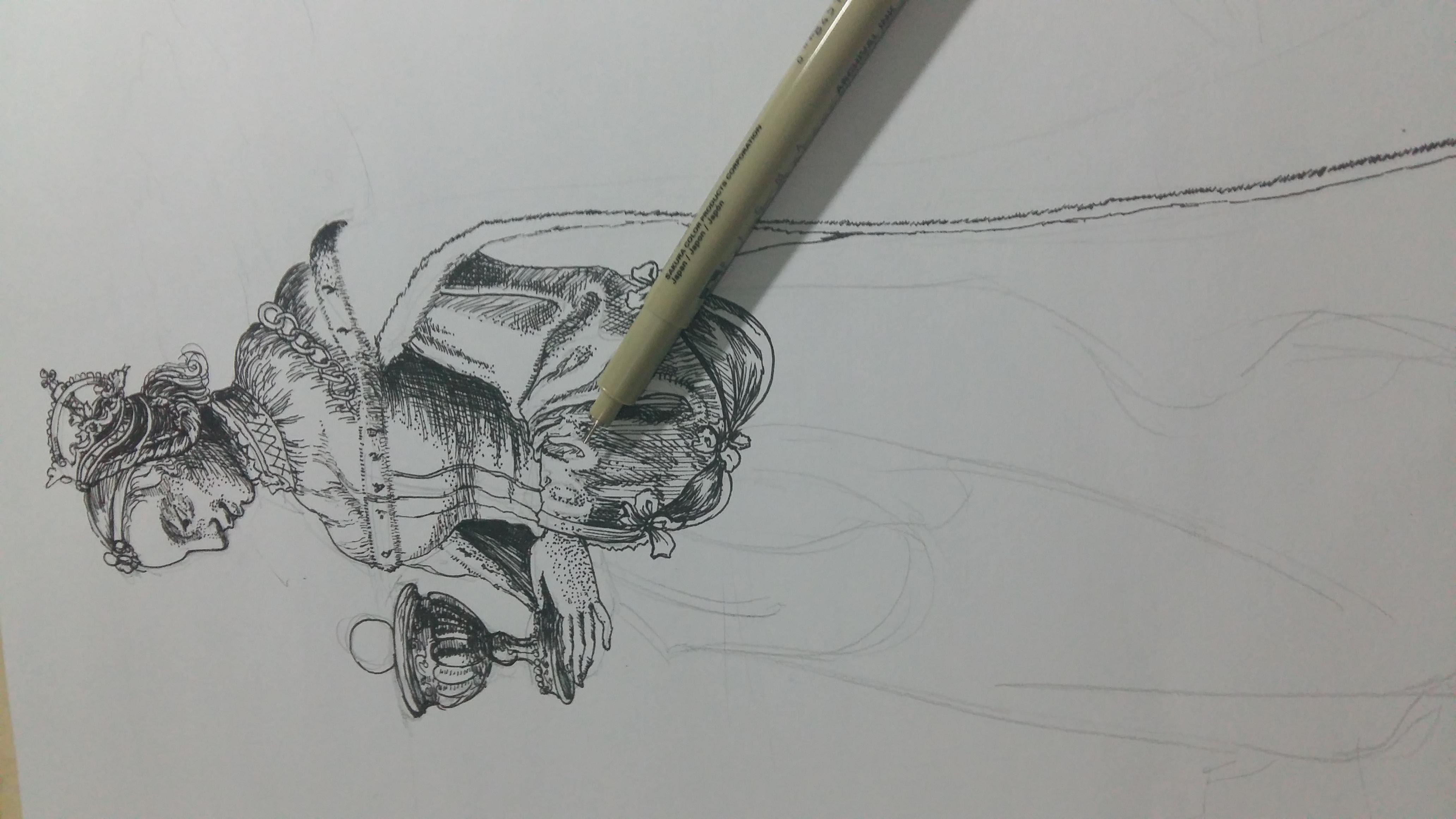 钢笔画临摹