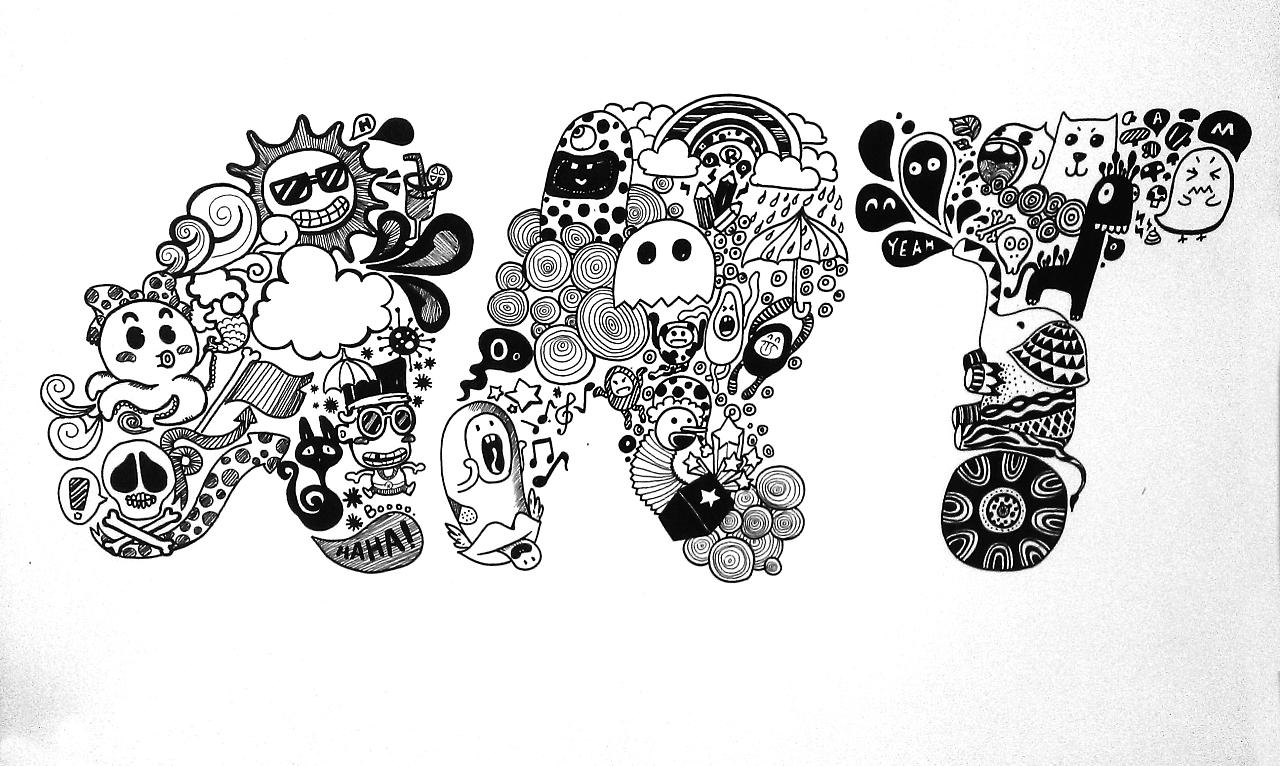 art-字母插画(手绘)
