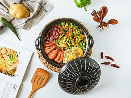 砂锅上的美食