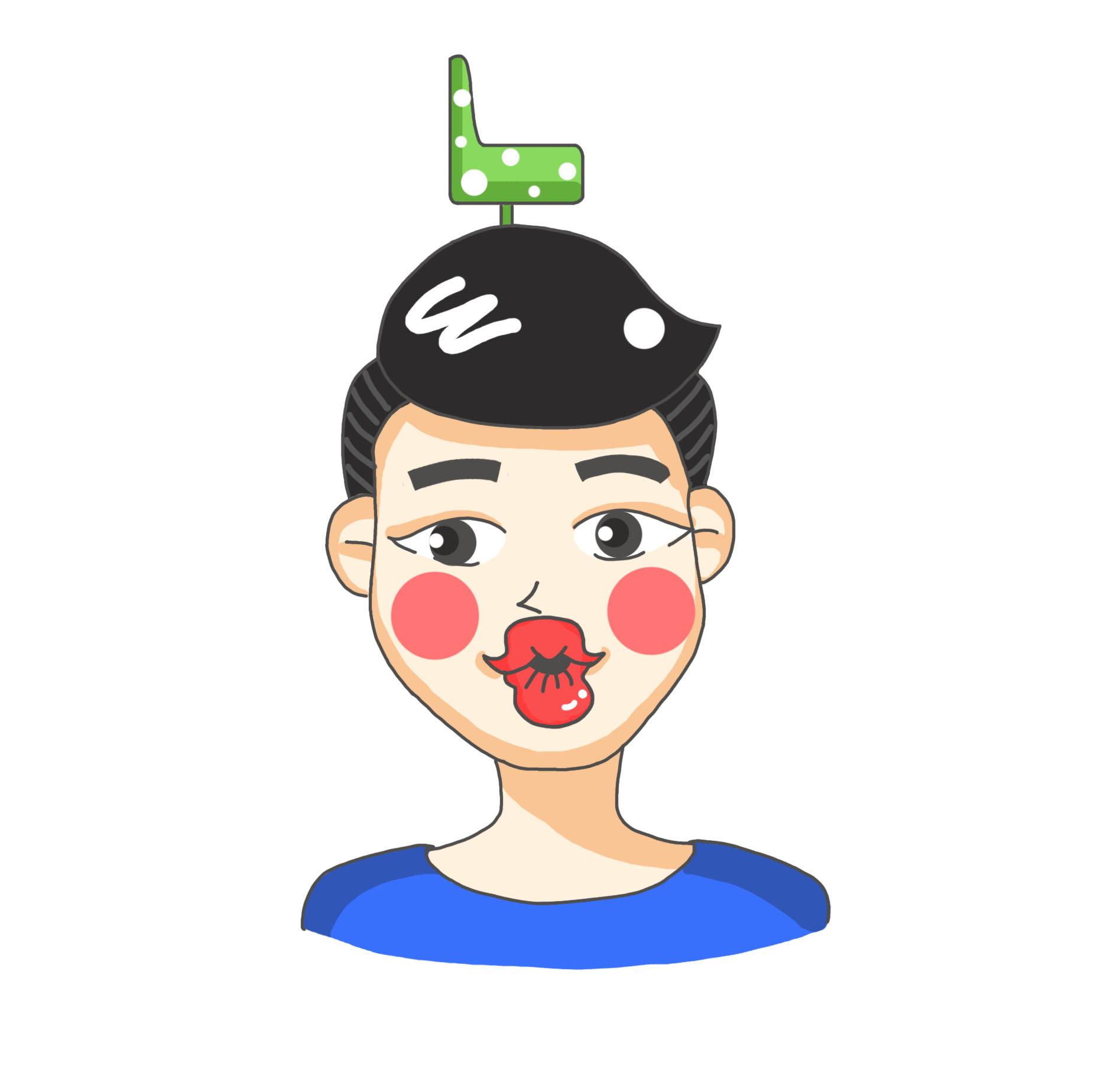 人物q版头像|动漫|肖像漫画|m柠檬m - 原创作品