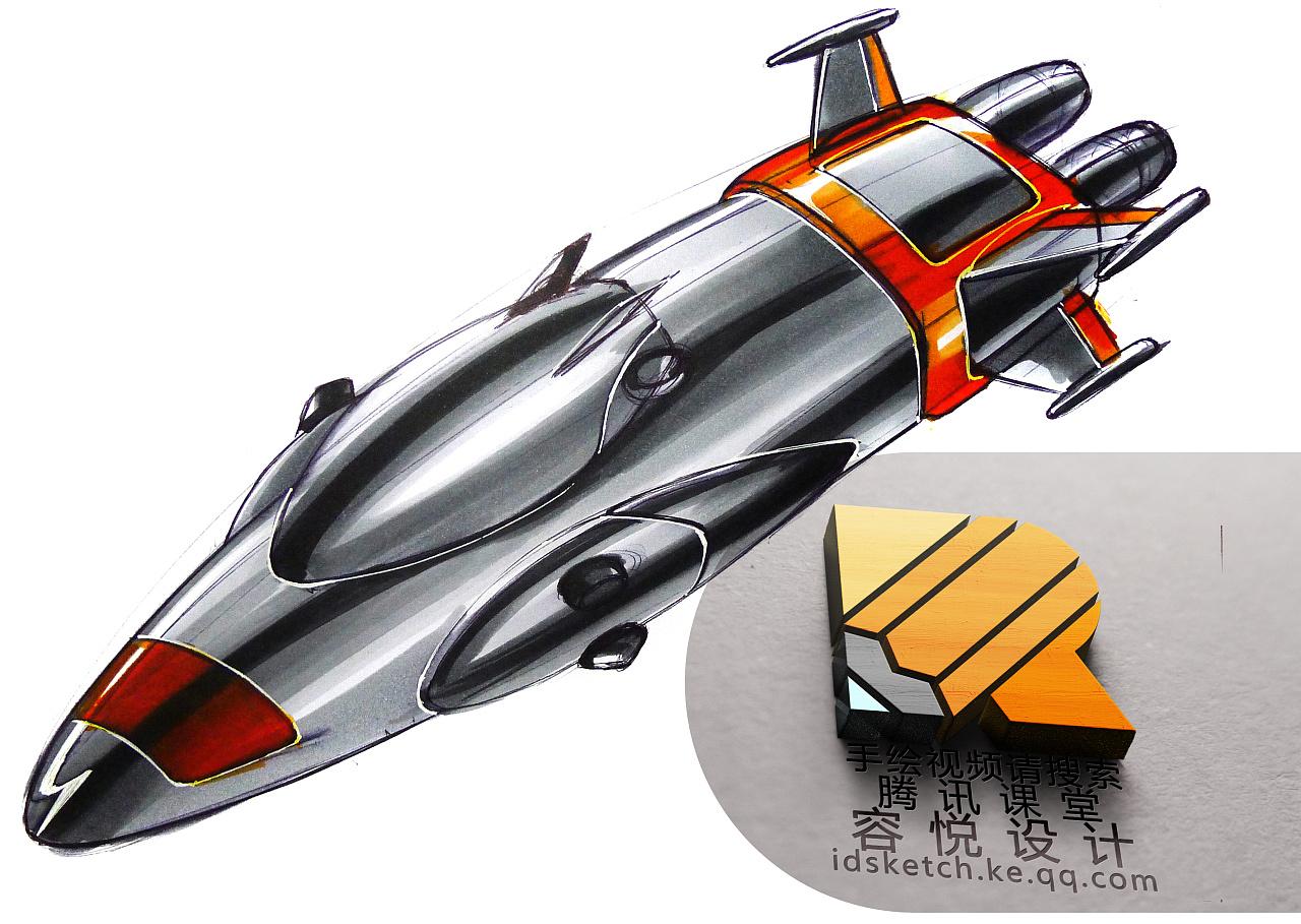 工业设计产品设计汽车设计马克笔手绘工业设计考研手绘