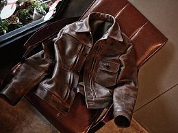 头层牛皮 阿美咔叽复古皮衣 宇宙人视觉 淘宝摄影