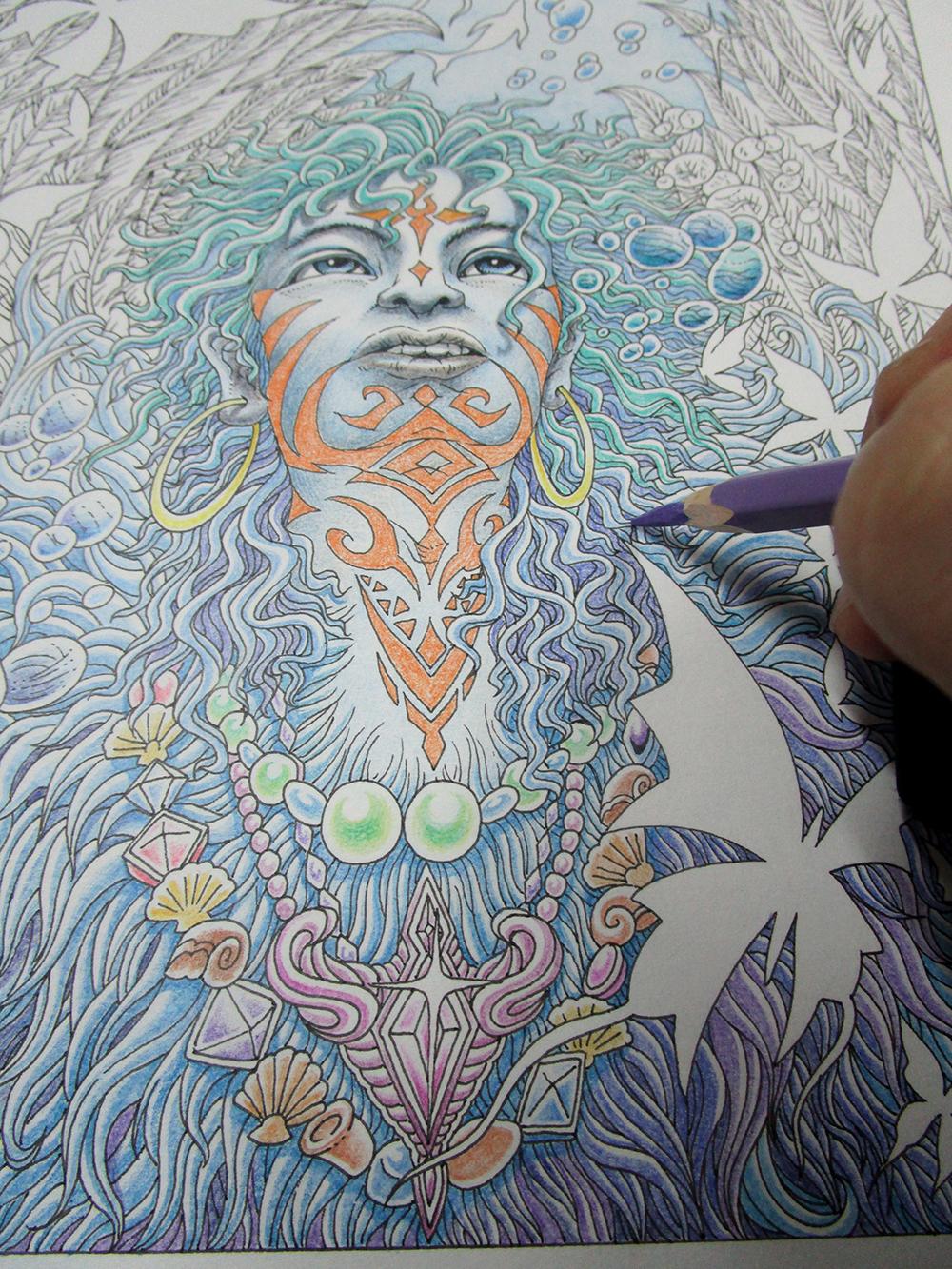 《冷海之子》 彩铅手绘 全过程