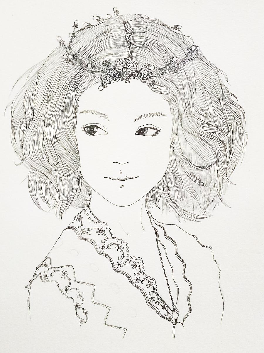 手绘黑白线条[暂时无名]|绘画习作|插画|大思