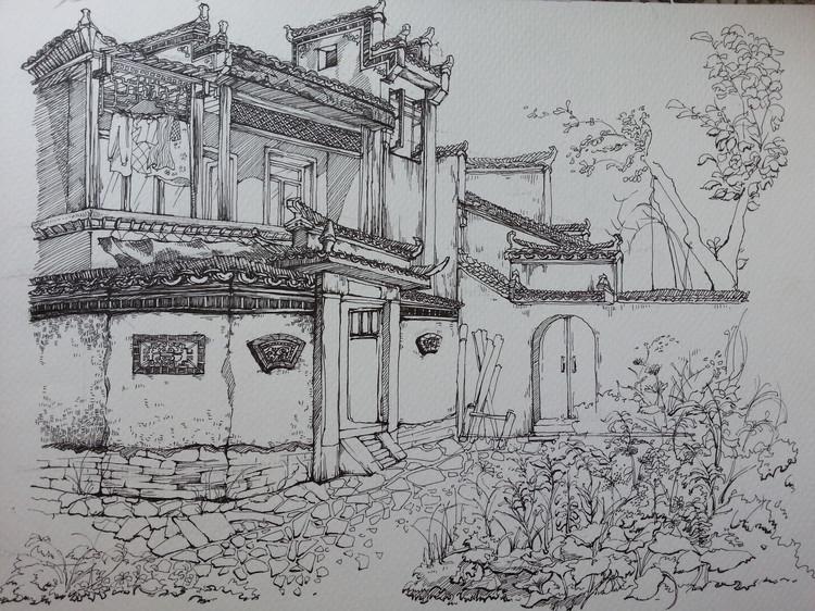 云南风景写生速写图片
