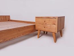 一组榆木原木家具