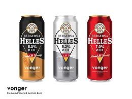 【 VONGER 罐装啤酒设计】啤酒饮料包装设计