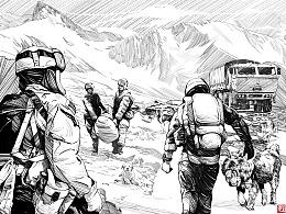 《雪山上的达娃》插画