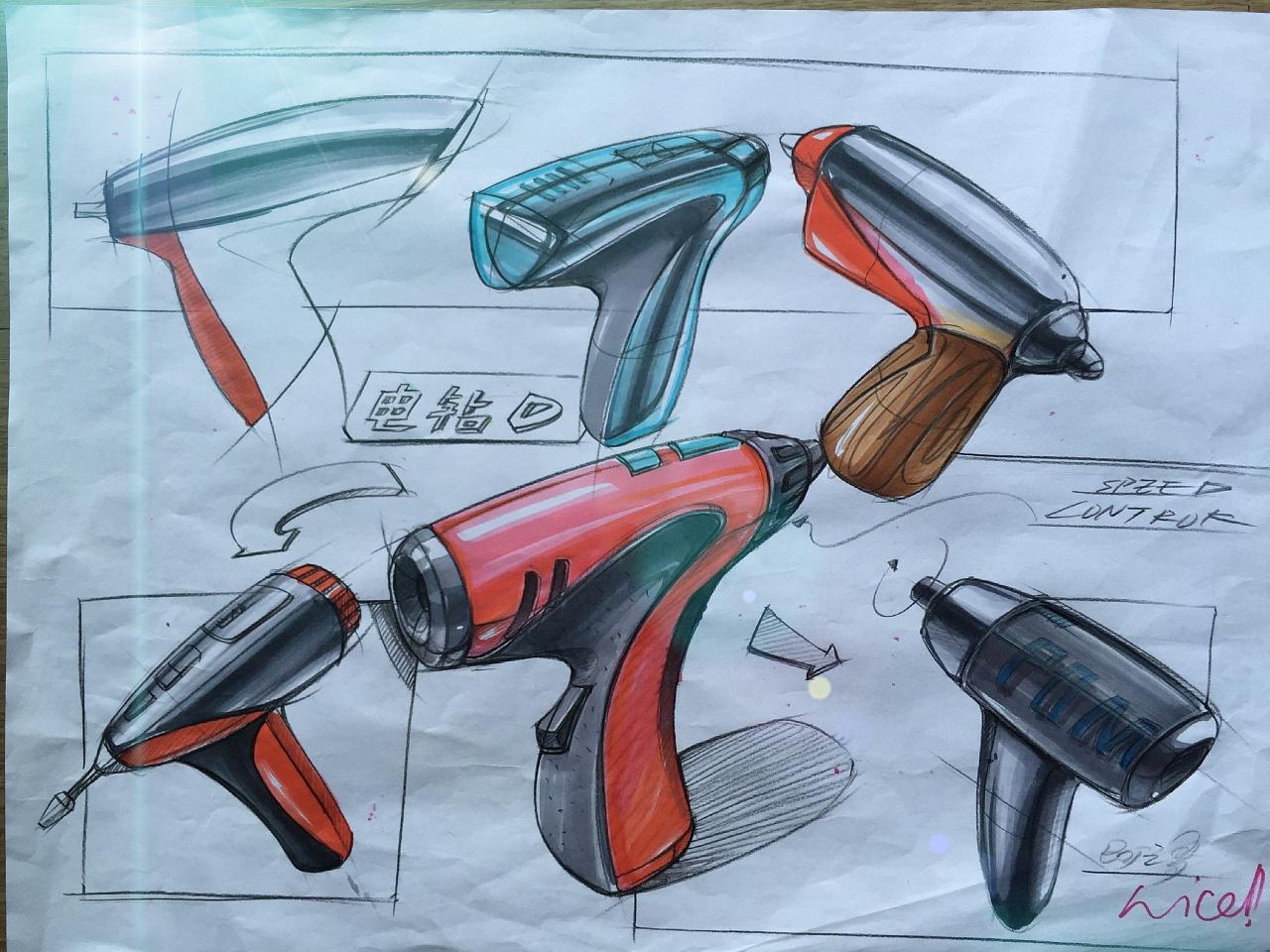 产品设计手绘手稿二|工业/产品|其他工业/产品|黄飒