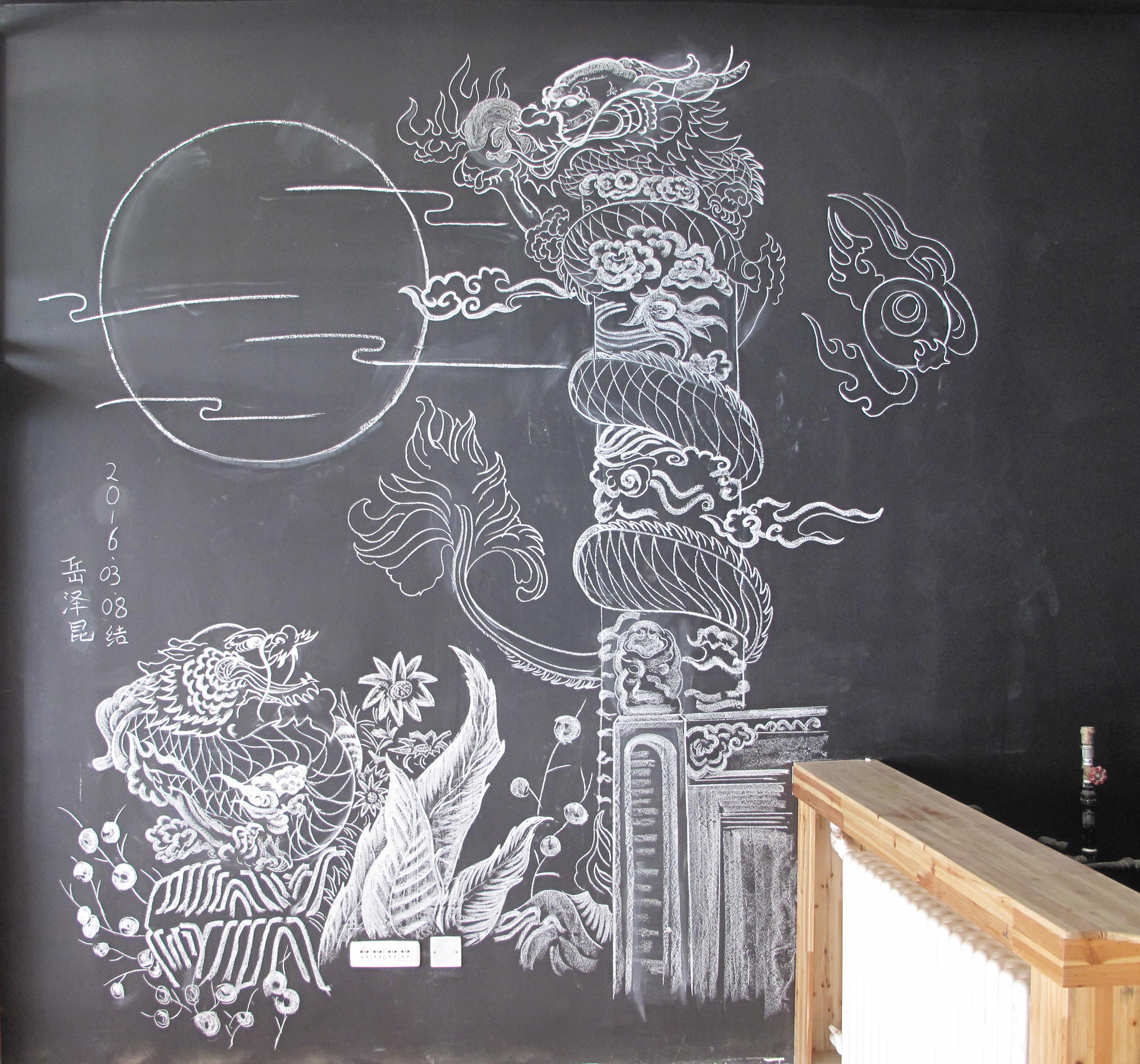 粉笔手绘墙面画