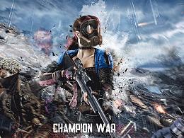 海报设计《女人战争》