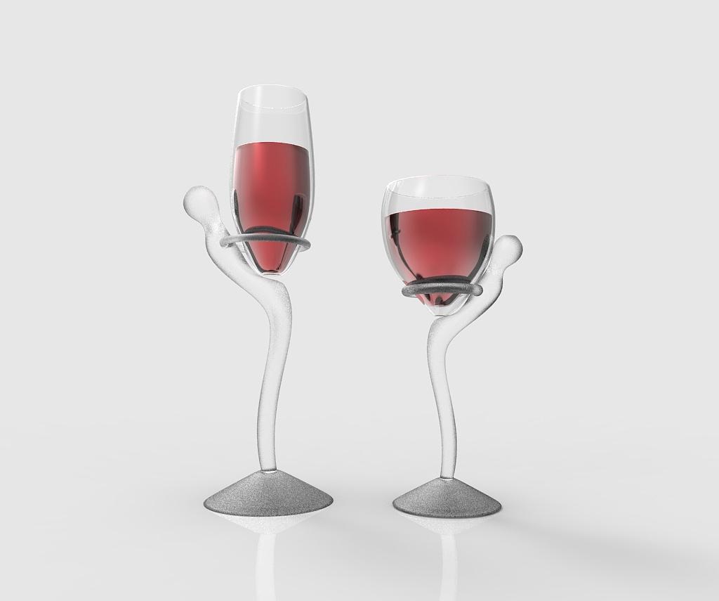 创意高脚杯设计(3d渲染图)图片