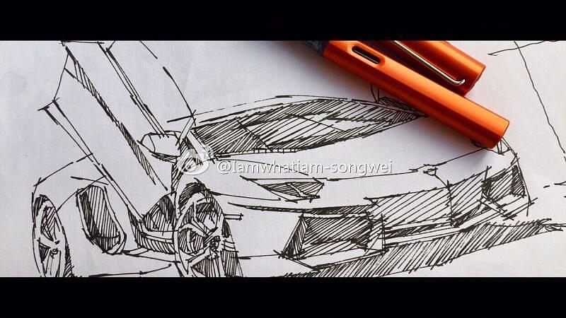 汽车快写手绘线稿|工业/产品|交通工具|songwei0317