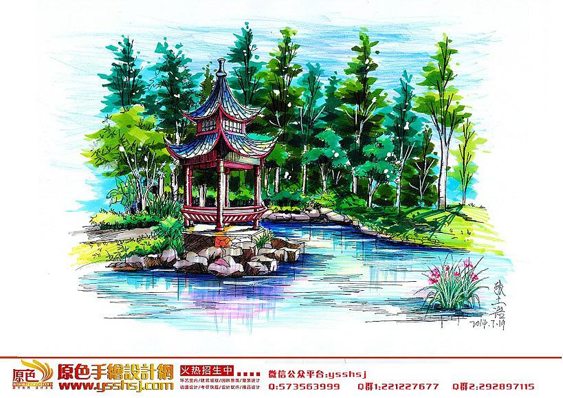 广州原色手绘学生景观作品