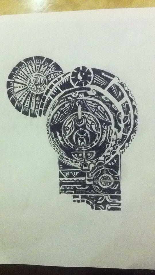 手绘纹身图