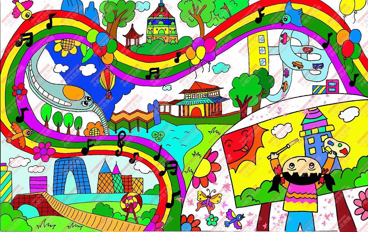 全国电脑绘画比赛_学生绘画作品设计_学生绘画作品设计分享展示