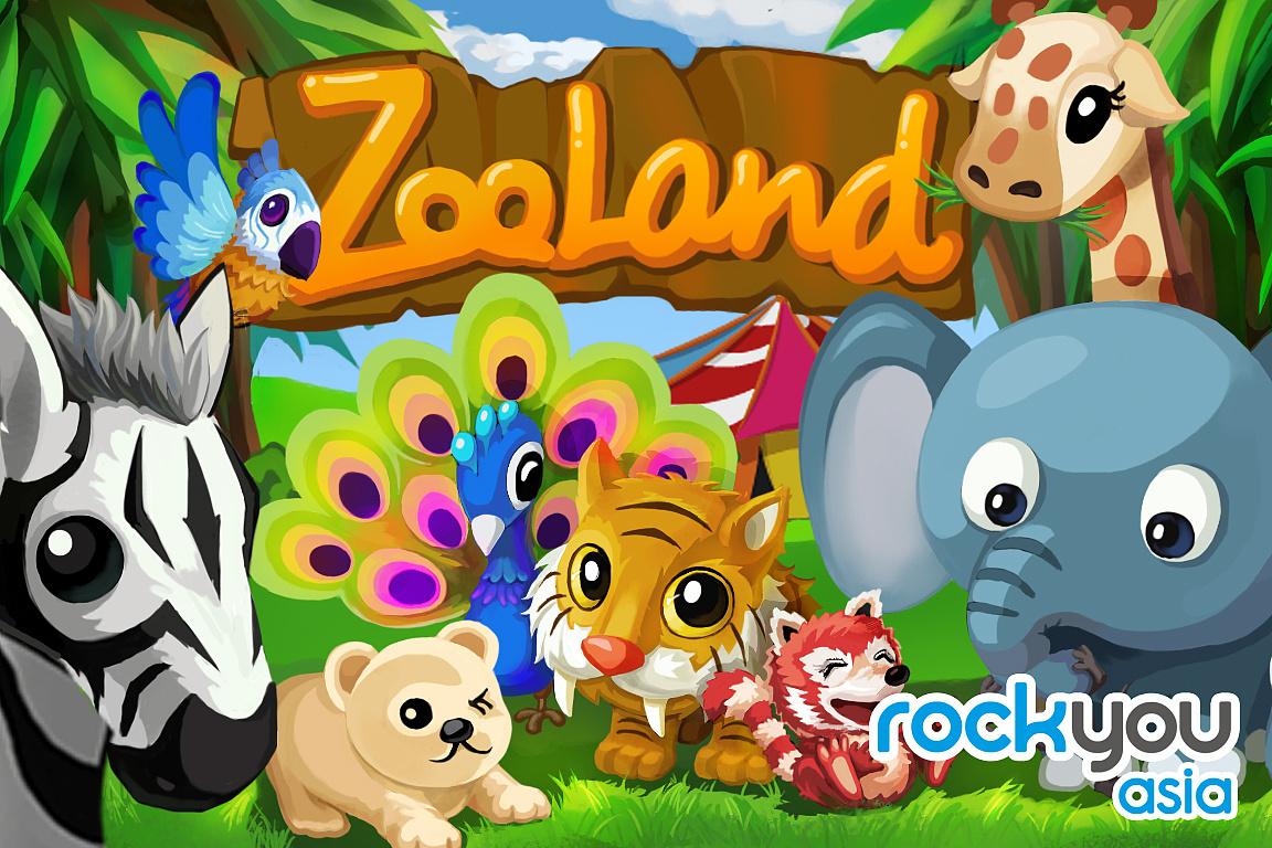 手机social game 《zoo land》游戏封面