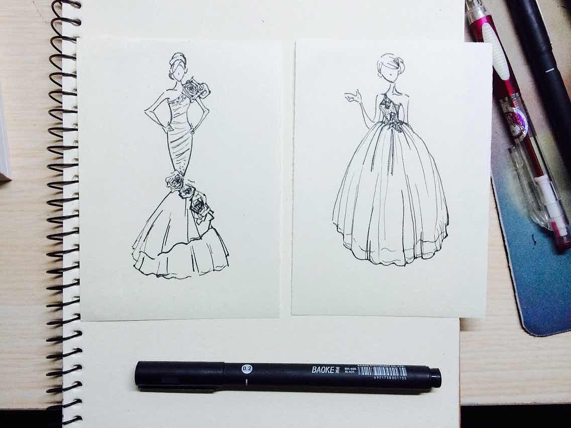 手绘线稿|插画|插画习作|芝麻姑娘 - 原创作品 - 站酷