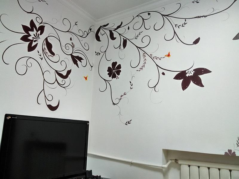 太原家居手绘墙画,太原手绘电视墙画 太原手绘儿童房彩绘墙 太原玄关