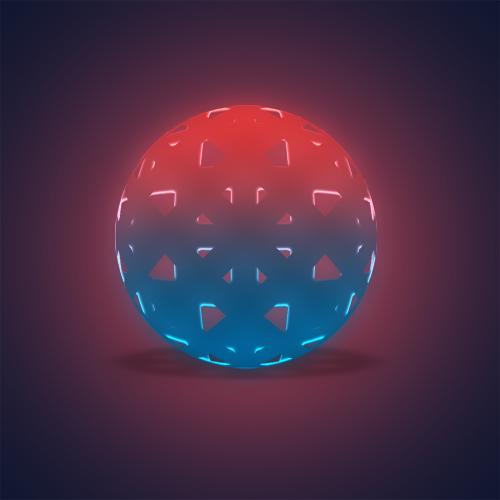 超简单的3d质感球体